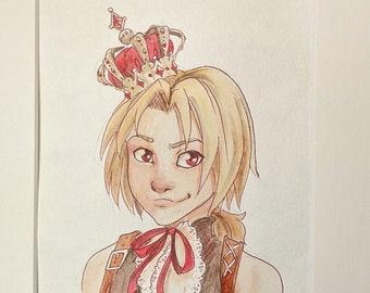 Final Fantasy IX Card portraits - BOGO - Original Watercolor Paintings