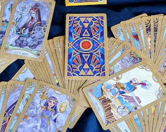 Legend of Zelda Tarot Card Deck - 79 Cards Major and Minor Arcana + Happy Squirrel