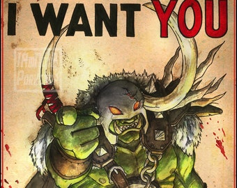 "Bandos Propaganda Poster Print 11"" x 17"""
