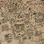 Vintage RuneScape World Map Print (24\