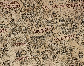 Vintage RuneScape World Map Print 24 x 36 | Etsy