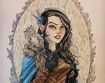 Roleplaying Character Watercolor Commissions