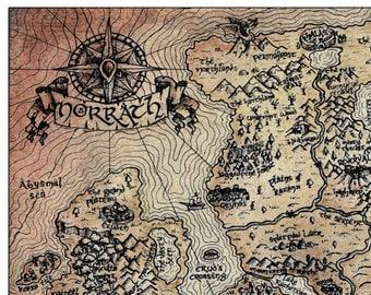 "11"" x 17"" Vintage EverQuest Norrath World Map Print"