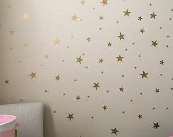 Gold Star Decals - Star Wall Decals - Nursery Wall Decals - Star Wall Stickers - Baby Room Decor - Star Stickers - Star Decals - Stars