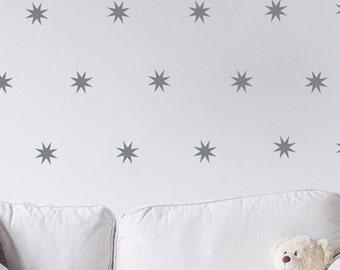 Star Burst Wall Decals - Nursery Wall Decals- Star Burst Decals - Starburst - Geometric Wall Decals - Star Decals - Star Burst Wall  Decals