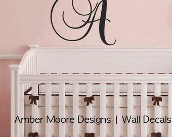 Monogram Wall Decal - Initial Wall Decal - Personalized Nursery Decal