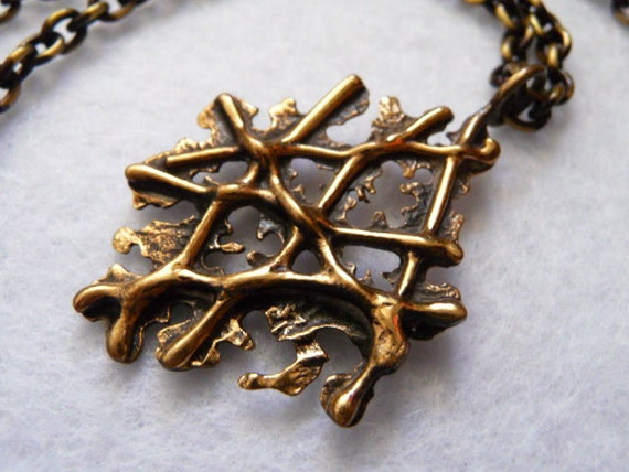 Finland. Necklace. Bronze. Vintage.