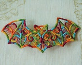 Rainbow Pride Bat lacework hair grip.