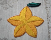 Kingdom Hearts Paopu Fruit embroidered iron on patch.