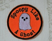 Halloween merit patch: Spoopy like a Ghost.