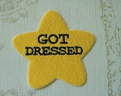 Gold star adulting embroidered iron on patch: Got Dressed