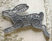 Running Hare lacework hair grip: Light gray