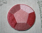 Steven Universe Rose Quartz/Steven embroidered iron on patch.
