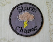 Embroidered weather merit iron on patch: Storm Chaser