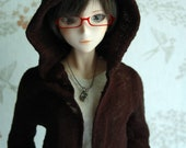 Smart Doll unisex long hooded cardigan.
