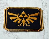The  Legend of Zelda Crest embroidered iron on patch.
