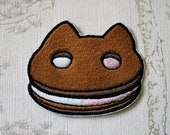 Steven Universe Cookie Cat embroidered iron on patch.