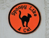 Halloween merit patch: Spoopy like a Cat.
