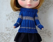 Blythe House pride jumper sets: Blue and Sliver
