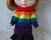 Blythe Rainbow jumper, light to dark.