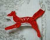 Running Fox lacework brooch.