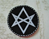 Embroidered Supernatural Men of letters sigil iron on patch.