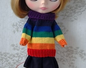 Blythe Rainbow jumper, Dark to light.