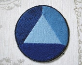 Steven Universe Sapphire embroidered iron on patch.