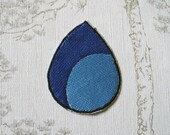 Steven Universe Lapis Lazuli embroidered iron on patch.