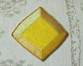 Steven Universe Yellow Diamond embroidered iron on patch.