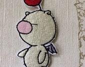 Kingdom Hearts Moogle embroidered iron on patch.