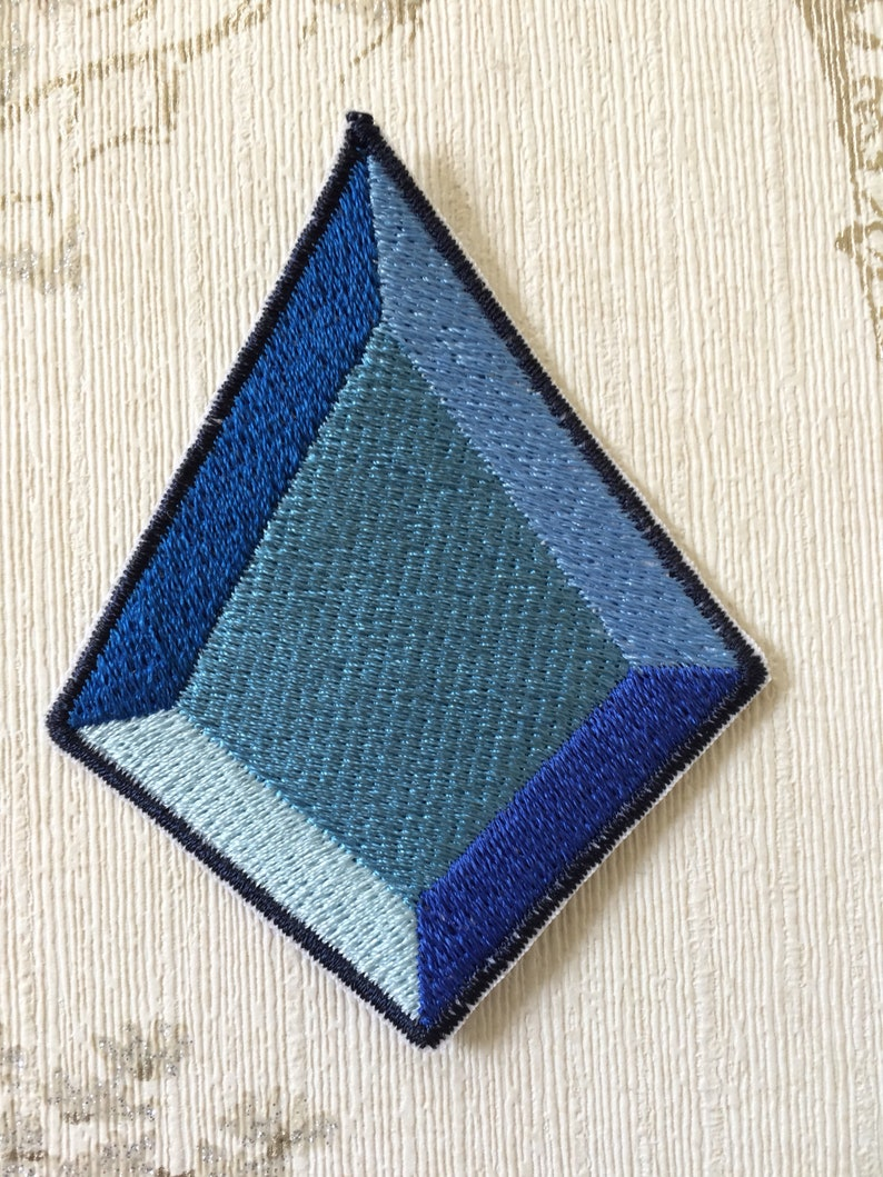 Steven Universe Blue Diamond embroidered iron on patch. image 0