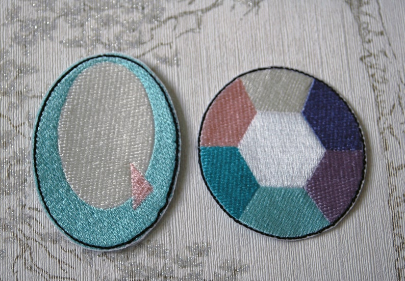 Steven Universe Opal embroidered iron on patch. image 0