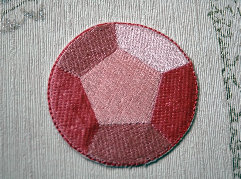 Steven Universe Rose Quartz/Steven embroidered iron on patch. image 0
