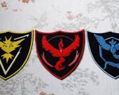 Pokemon GO team crest patch.