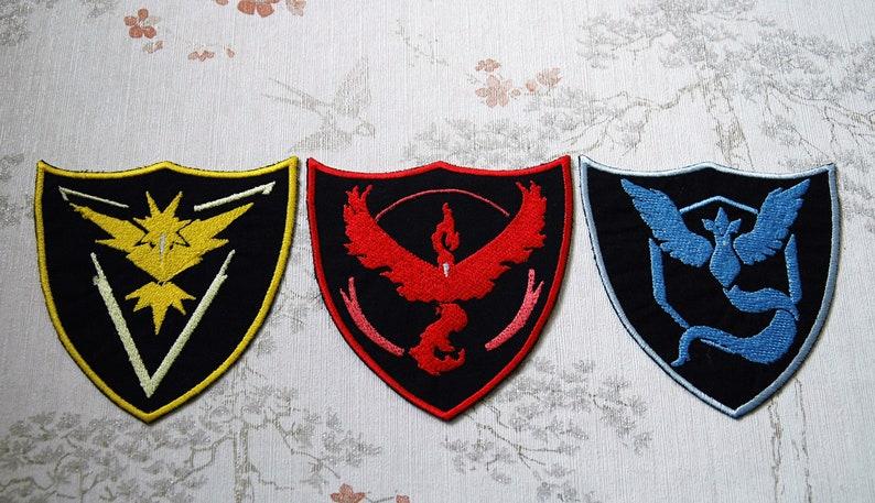 Pokemon GO team crest patch. image 0