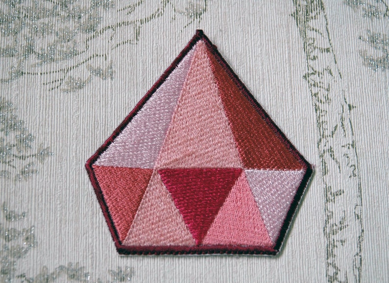 Steven Universe Pink Diamond embroidered iron on patch. image 0