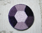 Steven Universe Amethyst embroidered iron on patch.