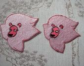 Steven Universe Lion face embroidered iron on patch.