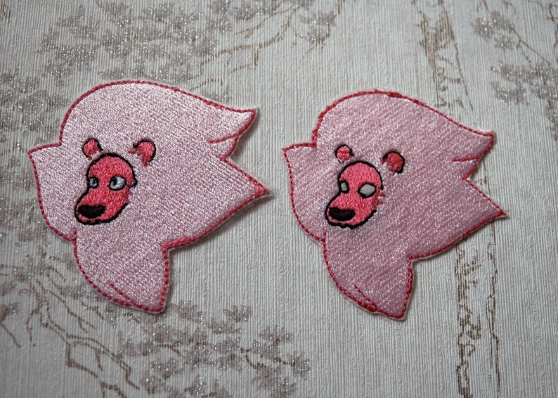 Steven Universe Lion face embroidered iron on patch. image 0