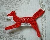 Running Fox lacework brooch.