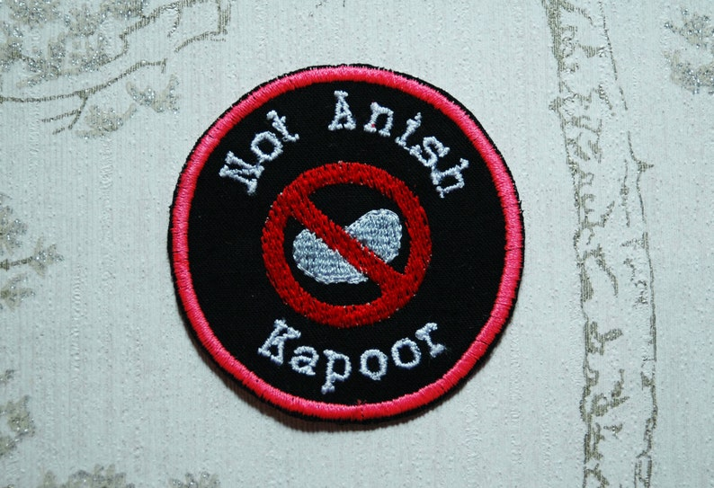 Crafting merit embroidered iron on patch: Ok Bean Boy. image 0
