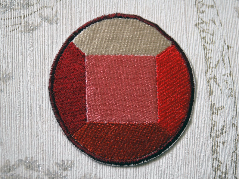 Steven Universe Ruby embroidered iron on patch. image 0