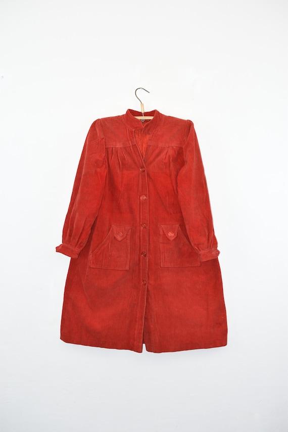 vintage corduroy coat, cotton velvet, vintage 70s,