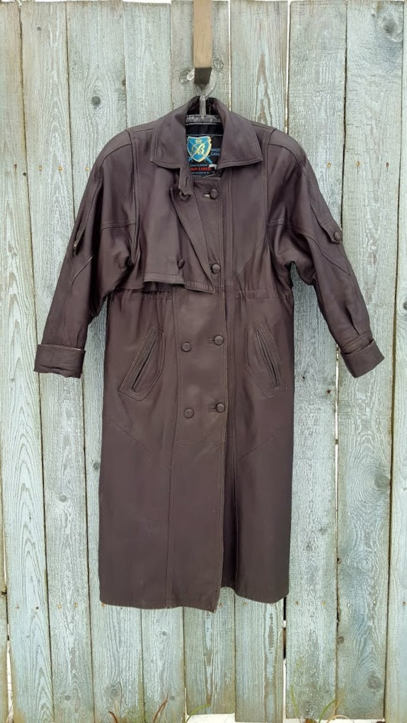 Vintage Steampunk Coat MatrixMorpheusNeoTrinity Size M Quality leather dark brown Leather Duster Over Coat leather coat