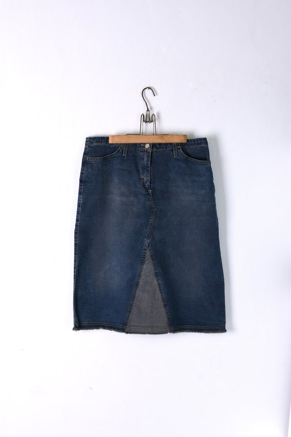 Vintage Lee Cooper Denim Skirt, Classic Blue Denim