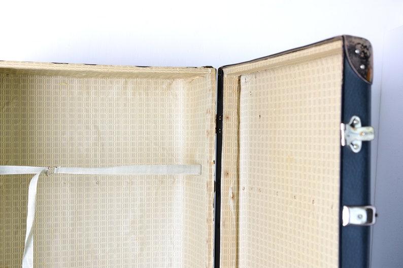 Antique wardrobe trunk Victorian Trunk storage box Gray suitcase coffee table Vintage travel trunk