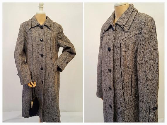 timeless design e931a 6d362 M/L klassische Mantel Damen Wolle bunte Boucle Lurex Faden Mantel  Chanel-Stil der 70er Jahre