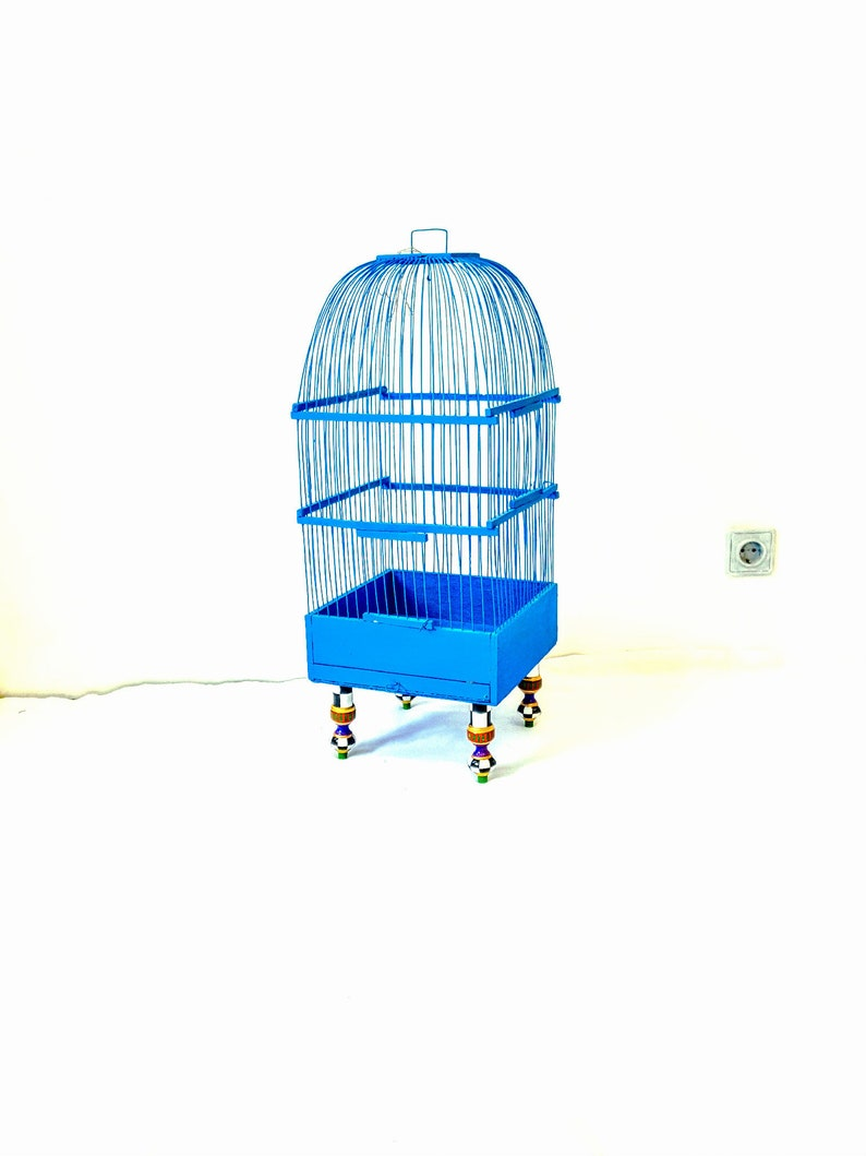 Vintage Wooden Bird Cage Hand Painted Home Decor Wedding Etsy