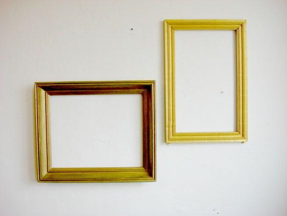 Gold Frame Old Wooden Picture Frames Large Frame Art Frames Etsy